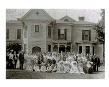 A church outing held at the Albert Early Clore homestead at the end of Clore Lane in Beard (Crestwood) circa the late 1800's. Since farms were scattered hundreds of acres apart, church events were a reprieve from the constant hard work and a way to bring community members together.