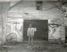 Blacksmith Shop owned and operated by John R. Robert Parrish in Brownsboro  from about 1905 to 1917. Brownsboro was an early settlement of homeowners and industry at the crossroads with the old Louisville wagon trail known as the Jefferson & Brownsboro Turnpike.