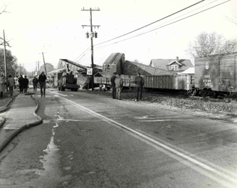 Crestwood Train Derailment, October 30, 1968. The fires were put out by 70 firemen from five volunteer departments, South Oldham, La Grange, Middletown, Pewee Valley, and Worthington.