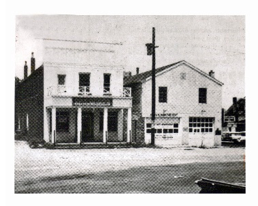 Stackhouse Dry Goods Store (left) and the original South Oldham Volunteer Fire Station (right) on Railroad Ave., Crestwood circa the 1950's. The station was built by volunteers in 1950 and housed the first apparatus: a 1950 Chevrolet with a 500gpm pump. These buildings still remain today.